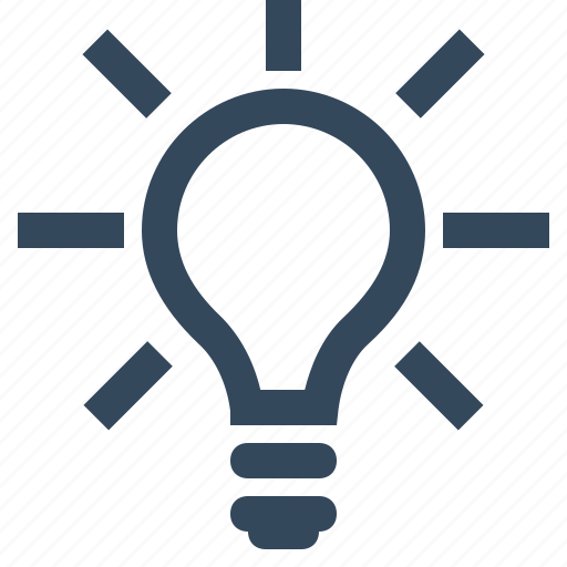 bulb, light, light bulb, tips icon