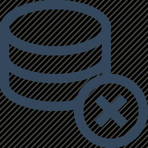 database, delete database, remove database icon