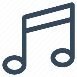 music, music note, musical notation, musical symbol icon