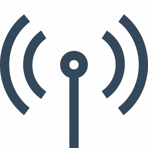 antenna, communication, signal, wifi, wireless, wireless signals icon