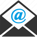 envelope, mail, message, @ sign, electronic mail, letter, newsletter