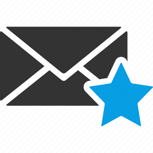 bookmark, envelope, letter, like, mail, message, star icon
