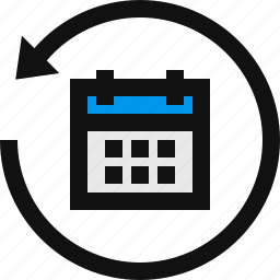 calendar, event, events, restore, restore calendar, restore date, schedule icon