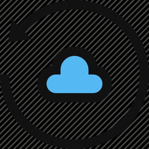 backup, cloud, cloud restore, reload, restore, sync, update icon