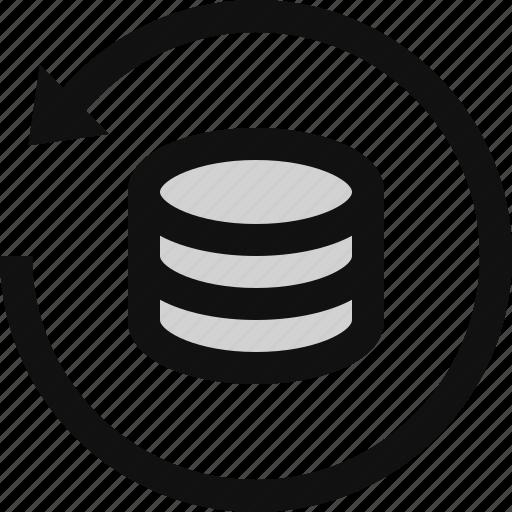 backup data, data restore, data syncing, data uploading, downloading data, restore, restore database icon