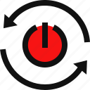 power button, reboot, reset, reset button, restart, restart computer icon