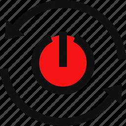 power button, reboot, reset, reset button, restart, restart computer icon