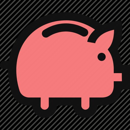 coin, deposit, dollar, financial money, piggy bank, savings icon