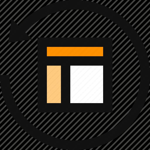 grid, layout, reset, restore, restore interface, restore layout icon