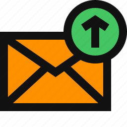 email, email send, email upload, email uploading, mail sending, mail upload icon