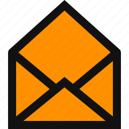blank email, empty envelope, empty letter, envelope, inbox, mail, message icon