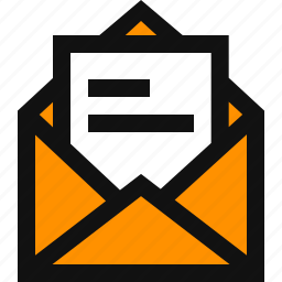 email, letter, mail, message, newsletter, open mail, read mail icon