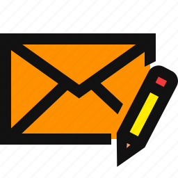 compose mail, create mail, create message, edit, email letter icon