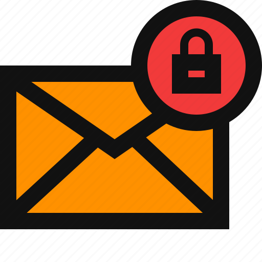email secure, lock email, lock mail, mail secure, private, protect, safe icon