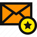 email favorite, favorite email, favorite mail, favourite, like email, message, starred icon