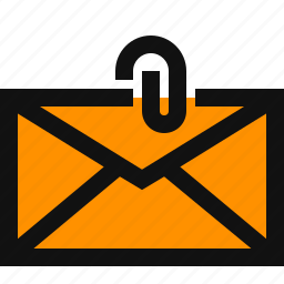 attachment, email, envelope, paper clip icon