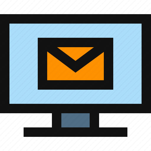 computer mail, email, incoming icon
