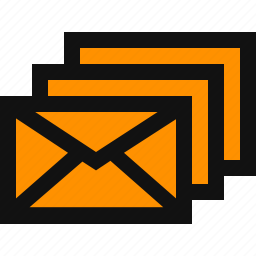emails, mails, multiple emails icon