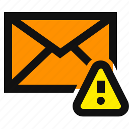 caution email, email, important, warning email icon