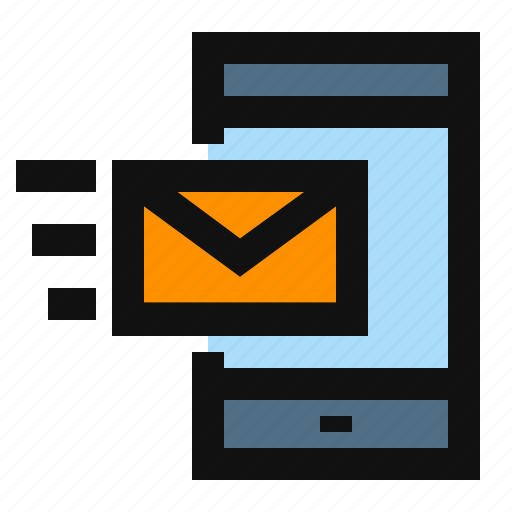email, incoming, receive email, receive message icon
