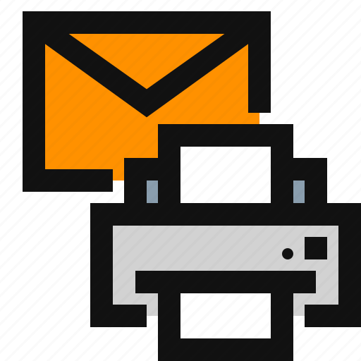 print, print documents, print email, print mail icon