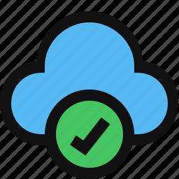 approve cloud, cloud, cloud accept, cloud computing, cloud ok, cloud service, cloud status icon