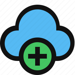 add cloud, cloud, cloud service, create, plus icon