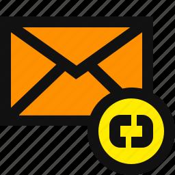 email, email link, internet link, mail link, web link icon