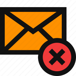clear email, delete email, delete message, remove email, remove message icon