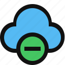 cloud, delete, minus, remove cloud icon