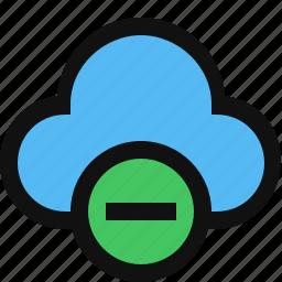 cloud, delete, minus, remove cloud icon