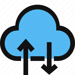 cloud, cloud storage, download, upload icon