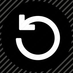 anticlockwise, arrow, arrow circle, direction icon icon