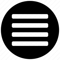 hamburger, list, menu, navigation, stack icon icon