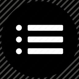 list, menu, option icon icon