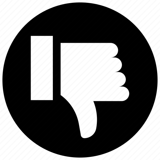 dislike, downvote, thumb down icon icon