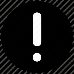 alert, warn, warning, web icon icon