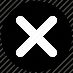 cancel, close, cross, delete, no, remove, stop icon icon