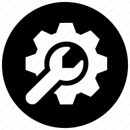 cog, gear, machinery, setting, wrench icon icon