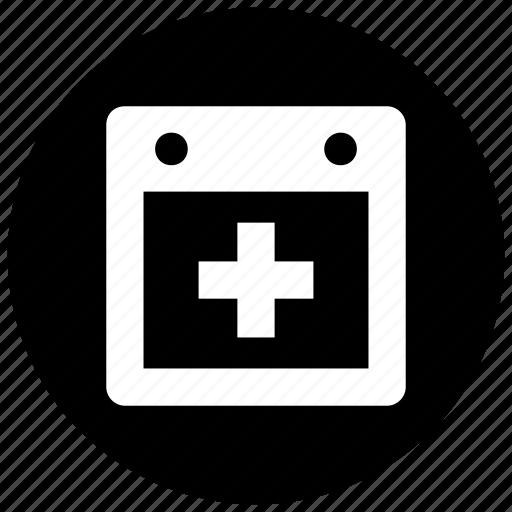 add, calendar, new, schedule icon icon