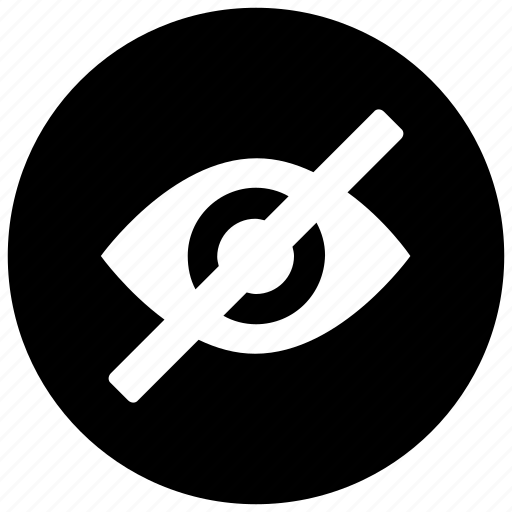 eye, hidden, invisible, off, visible, vision icon icon