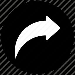 arrow, next, redo, right, share, share files icon icon