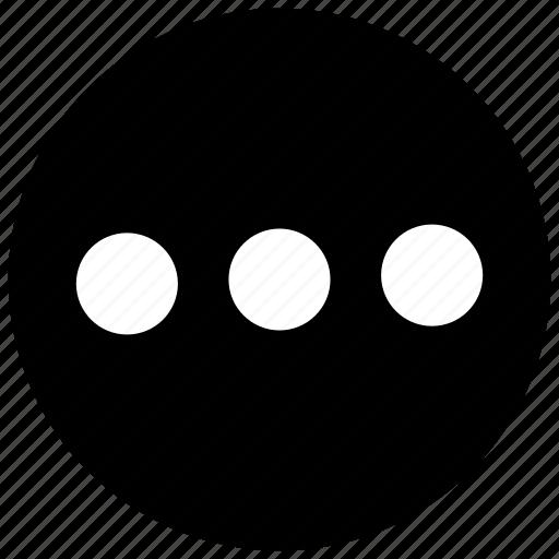 ellipsis, list, menu, more icon icon