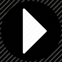 arrow, movie, play, video icon icon