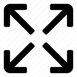 arrows, enlarge, expand, fullscreen, maximize, move, zoom icon