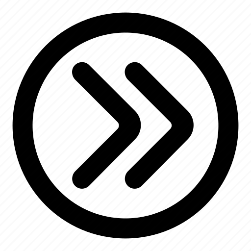 arrow, direction, forward, next, right, skip icon