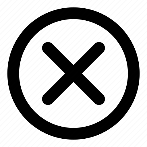 close, cross, delete, multiplication, remove, x icon
