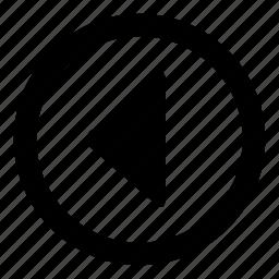 arrow, back, backward, direction, left, prev, previous icon