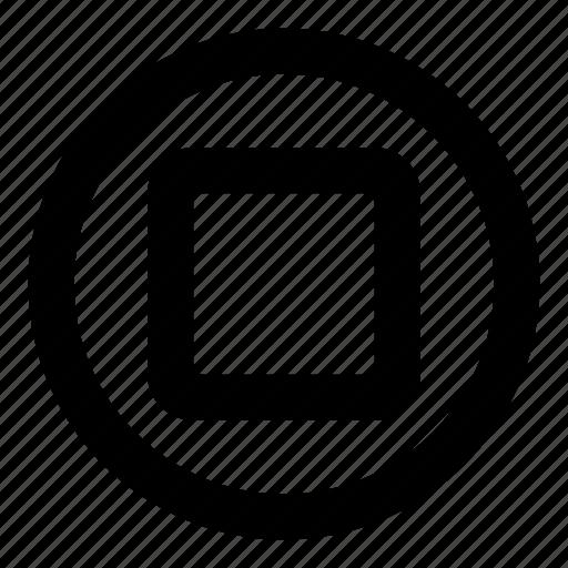 audio, media, record, recording, stop icon