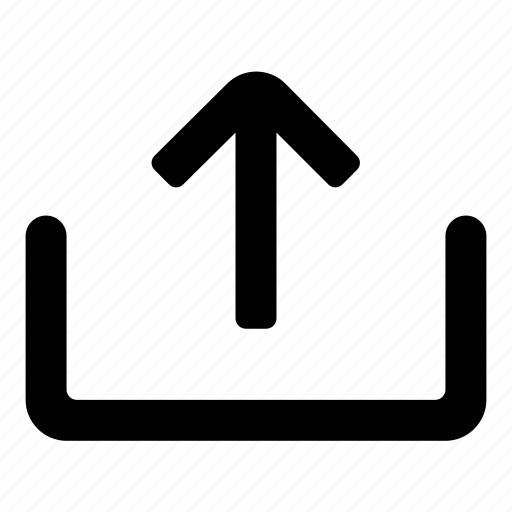 arrow, export, up, upload icon